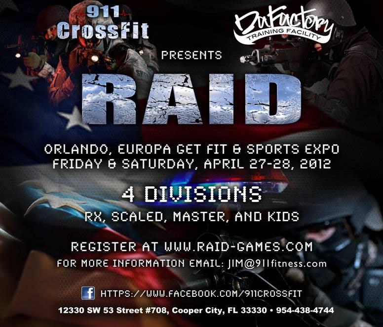 911 CrossFit Presents The RAID Games